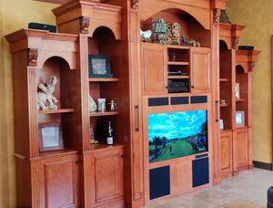 Custom Solid Wood Wall Unit and Desk combo for Sale in Davie, FL