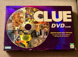 Clue DVD Family Mystery Board Game By Parker Brothers Hasbro 2006 for Sale in Scottsdale, AZ