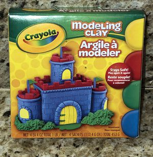 New Crayola 4 Colors Modeling Clay 1 Pound for Sale in San Jacinto, CA