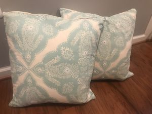 Two light green decorative pillows for Sale in Forest Heights, MD