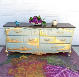 French Provincial Style Dresser In Gold Leaf for Sale in Anaheim,  CA