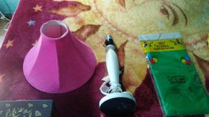 White lamp pink shade for Sale in Phoenix, AZ