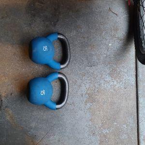 2 15lbs Kettlebell Golds Gym for Sale in Philadelphia, PA