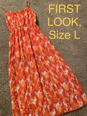 FIRST LOOK, Maxi Multicolored Dress, Size L for Sale in Phoenix, AZ