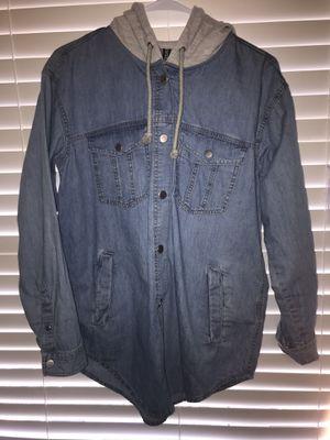 Women's 8 Long jean jacket hoodie for Sale in Haymarket, VA