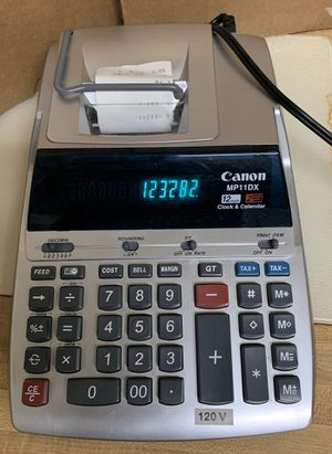 Canon MP11DX 12 digit Clock and Calendar Printing Calculator for Sale in MD, US