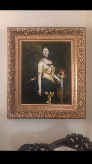 Antique oil painting high quality for Sale in Perris, CA