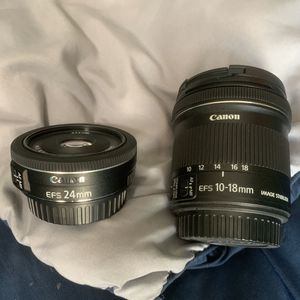 Canon Lenses EFS IS 10-18mm & 50mm for Sale in Escondido, CA
