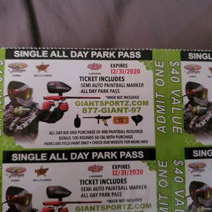 Paintball All Day Park Pass for Sale in Pasadena, CA