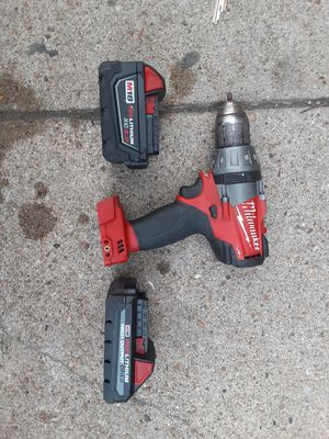 Milwaukee drill and 2 batteries for Sale in Nahant, MA