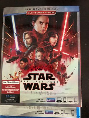 Star wars the last jedi on blue ray for Sale in Braintree, MA