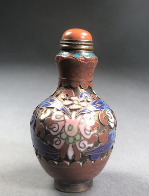 Antique Chinese Cloisonné enameled Snuff bottle for Sale in Miami, FL