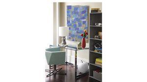 CB2 Tesso chrome and glass desk for Sale in Miami, FL