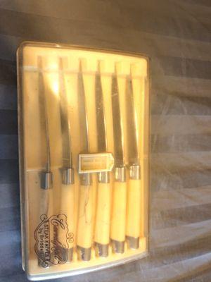 Vintage Briddell Steak Knife Set with original case for Sale in West Palm Beach, FL