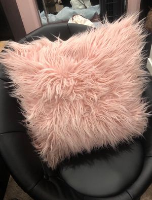 Pink faux fur decorative pillow for Sale in Redwood City, CA