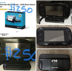 Nintendo Wii U consola 32 GB black deluxe set completo. for Sale in West Valley City, UT