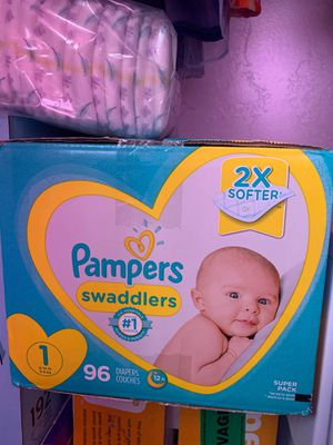 Diapers size 1 $45 for both for Sale in Salt Lake City, UT