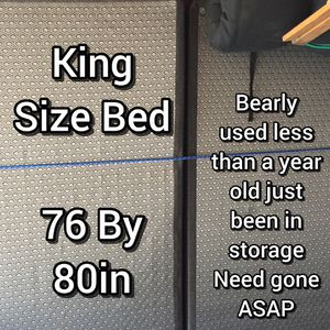 King Size Bed, Mattress, Box Springs & Bed Frame Included NEED GONE ASAP!!! for Sale in FORADA, MN
