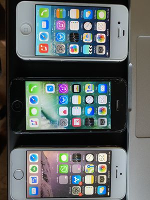 3 iPhones unlocked - 4s, 5, 5s - in great working condition for Sale in Lafayette, CO