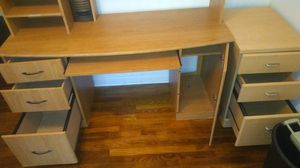 Office Desk Set With Leather Chair for Sale in Portsmouth, VA