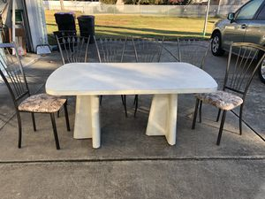 Dining set w/6 chairs (Formica table/metal chairs) for Sale in Deptford Township, NJ