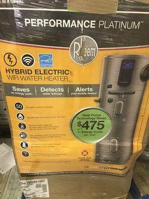 Rheem 50gal water heater electric hybrid plutinum for Sale in Atlanta, GA
