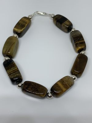 Silver bracelet with tiger eye for Sale in Whittier, CA
