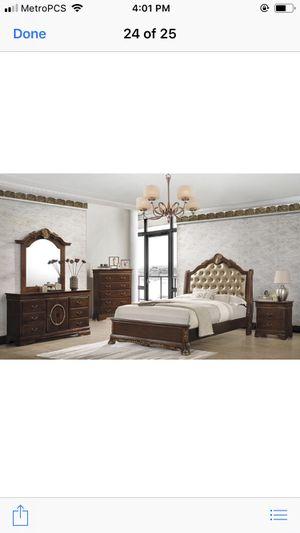 Brand new queen size wooden bedroom set $1299 for Sale in Hialeah, FL
