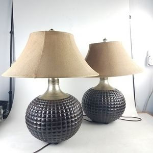 Pair of Brown Ceramic Lamps (1023111) for Sale in South San Francisco, CA