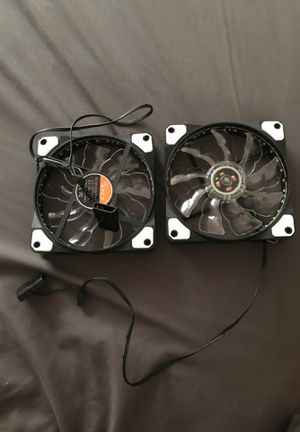 led fans for computers (set of 2) for Sale in Princeton, NJ