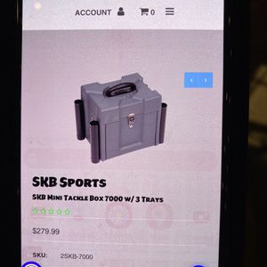 SKB Mini Tackle Box With 3 Trays for Sale in Lakewood, CA