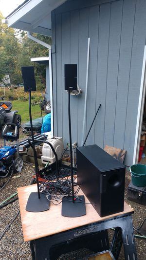 Bose acoustimass 5 series III Speakers stand and subwoofer for Sale in Port Orchard, WA