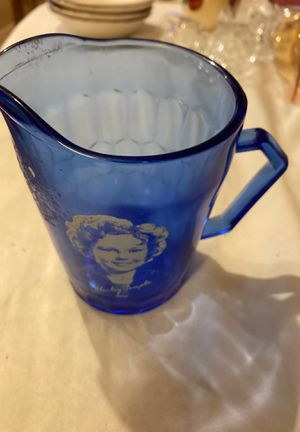VintageShirley Temple pitcher cobalt glass for Sale in Madison, VA