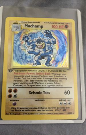 1st edition machamp & mewtwo hologram for Sale in Clovis, CA