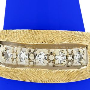 U2104 MENS 14K GOLD DIAMOND WEDDING RING BAND .15CT 8.40GRAMS for Sale in San Diego, CA