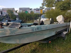 16 ft fiberglass bass boat. NEEDS WORK. Tailer needs tires. Need gone for Sale in Apex, NC