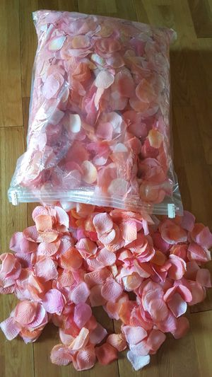 Hand Spray painted coral Rose Petals for Sale in Camas, WA