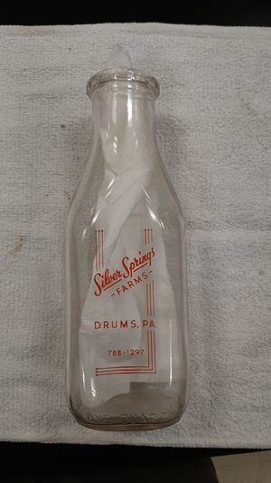 Glass Milk Bottle for Sale in Red Lion, PA