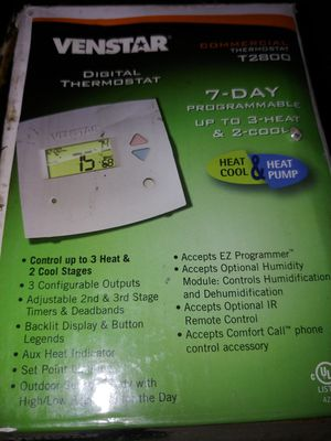 venstar digital commerical thermostat T2800 for Sale in Lake Elsinore, CA