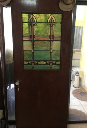 Vintage stained glass Amish made door for Sale in Malabar, FL