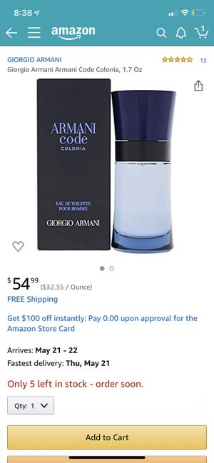 Armani code perfume for Sale in West Valley City, UT