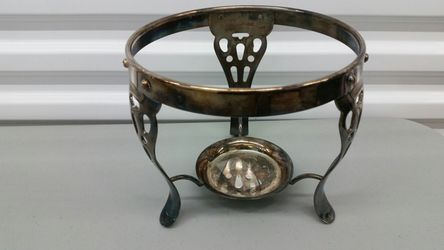 Silverplated Chafing Dish Holder Warmer for Sale in San Antonio,  TX