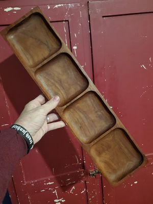Vintage Teakwood tray handmade in Thailand for Sale in Columbus, OH