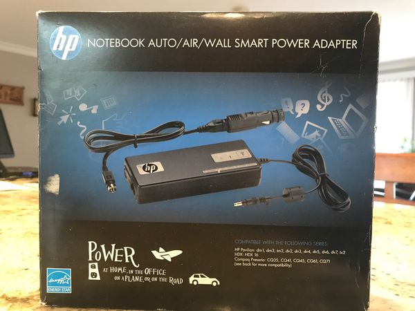 HP Notebook Auto-Air-Wall power adapter