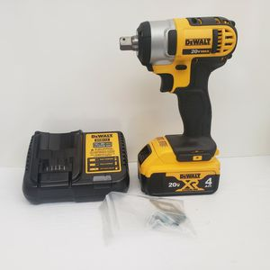 10) Dewalt 20v 1/2 Cordless Impact Wrench With Battery And Charger for Sale in Riverside, CA
