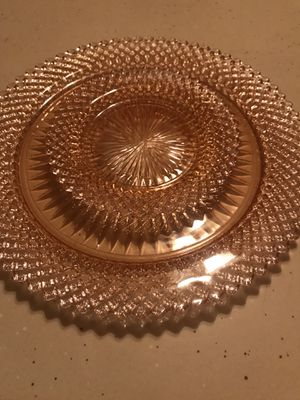 Miss America pink depression glass plate set for Sale in Philadelphia, PA