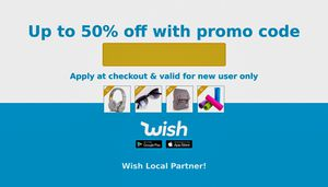 Wish. Com promo code for Sale in Rosedale, MD