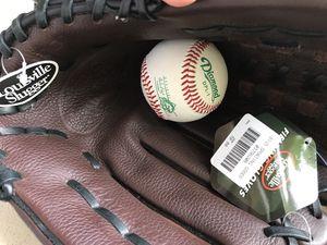 Baseball glove brand new Louisville Slugger + ball for Sale in Los Angeles, CA