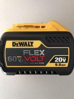 NEW DeWalt Battery 9.0 ah FLEX VOLT Lithium ion 60V-20V for Sale in Los Angeles, CA