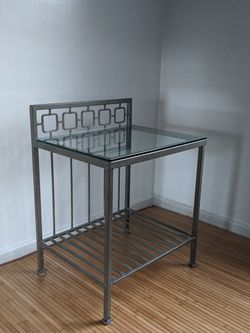 RARE METAL IRON GLASS TOP TABLE UNIQUE VINTAGE for Sale in Arlington,  VA